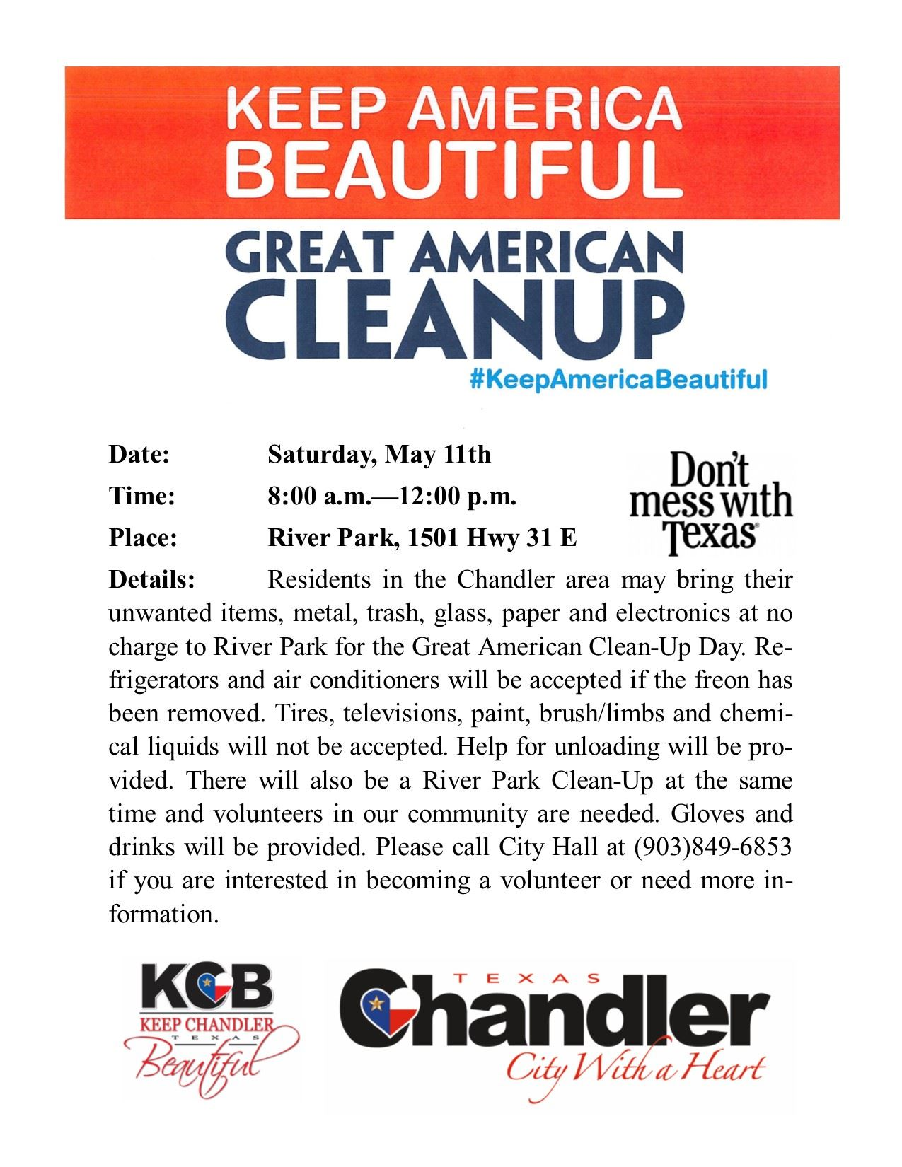 Great American Cleanup Flyer